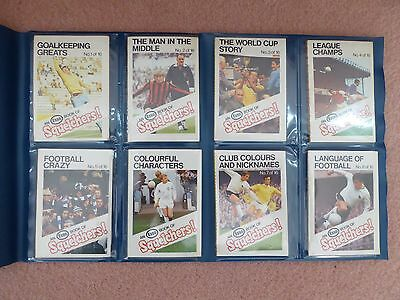 Esso Squelchers 1970-1971 football booklets, full set in plastic wallet