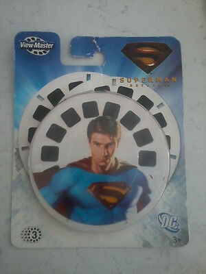 Fisher Price DC Superman Returns View Master 3D reels (re: photos)