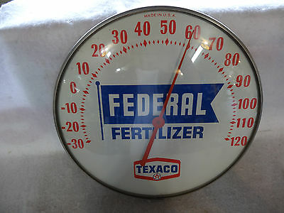 Nice Old Texaco Federal Fertilizer Thermometer