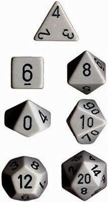 Set 7 Dice Chessex Opaque Dk. Grey black 25410 Opaque Dark Grey black Dice CHX