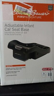 Eddie Bauer Adjustable Infant Car Seat Base For Surefit Series Car Seats  Nib