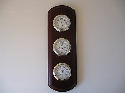 Vtg Taylor Wood Weather Station With Thermometer,Barometer&Humidity!
