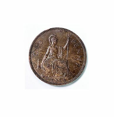 "1953 British Old Penny, In ""very Collectible Condition""   A18"
