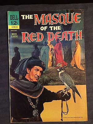 Masque of the Red Death, Dell 1964 Vincent Price Photo-cover VF- NICE COPY!