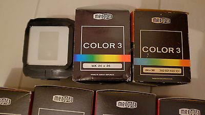 Meopta mixing box chamber, various sizes, lot of 8, new, Meopta Color 3, 4ES