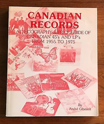 Canadian Records Discography Price Guide Book Andre Gibeault OOP RARE GARAGE