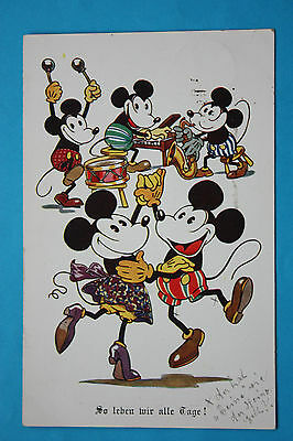 vintage early UK Interart Disney Mickey Mouse postcard 1930 version for Germany