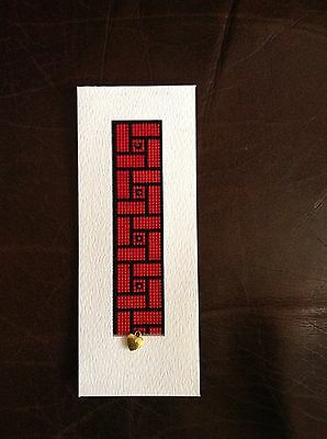 Completed Cross Stitch - Bookmark With Beads
