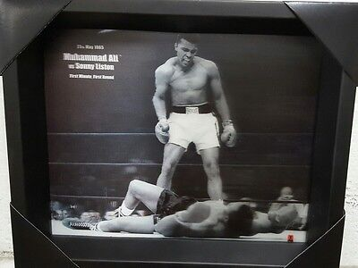 Muhammad Ali vs Sonny Liston 8x10 Shadow Box 3D Picture Frame