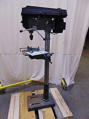 """Floor Mount 16-1/2"""" Delta Rockwell Drill Press With Chuck and Vise 115v 17-900"""