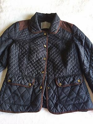 navy quilted jacket size 12