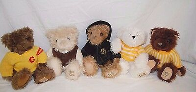 Job Lot -  Giorgio Beverly Hills Collectors Bears x 5 BR/D4
