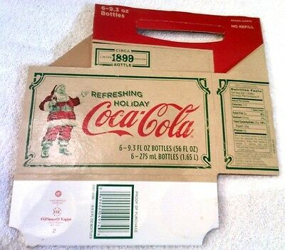 Vintage Coca-Cola 6 Pack Cardboard Carton Carrier Limited Edition Circa 1899