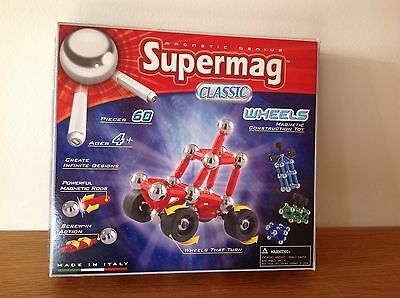 Supermag Classic Wheels- Magnetic Construction Toy