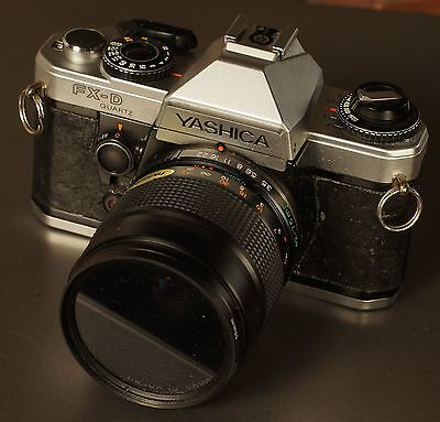 Yashica fx-d quartz with 42 - 75mm lens + ND4 filter - Works great
