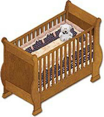 Sleight Baby Crib, Furniture Woodworking Plans, Instructions on Paper