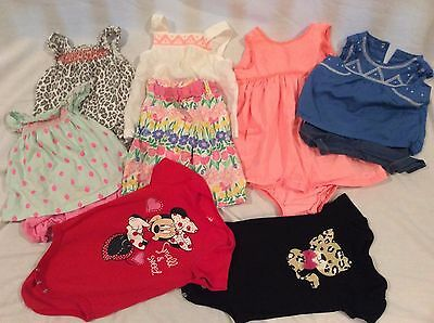 Girls Baby Spring Clothing Lot Of 7 Outfits Tops Shirts Pants Oneies 6-9 Months