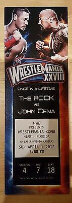 Wwe Wrestlemania 28 Ticket John Cena Vs The Rock
