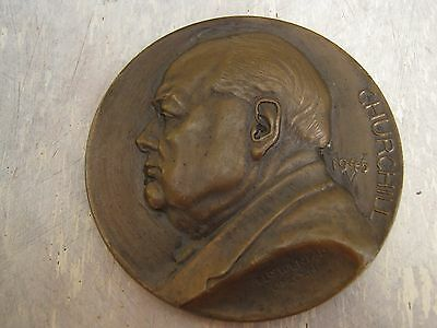 Sir Winston Churchill decorative coin / medal / paper weight