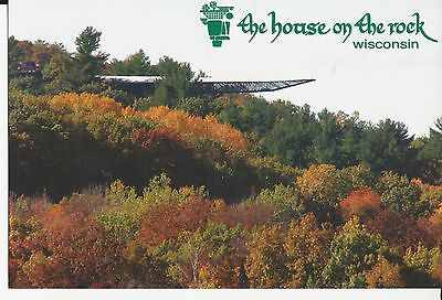 """The House On The Rock Wisconsin 6""""x 4"""" Postcard Cantilever Over Fall Colors"""