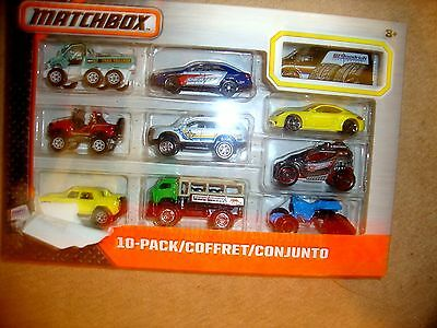 Matchbox On A Mission: 10-Pack Car Set new in box