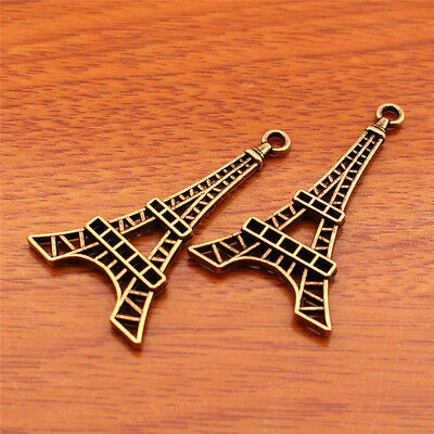 15 Pieces 44*25mm Eiffel Charms Retro Bronze Jewelry Pendant For Bracelet 7145F