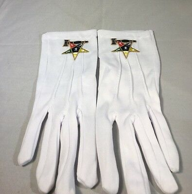 Order of the Eastern Worthy Matron Symbol Gloves-New!