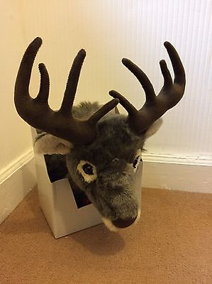 Reindeer Head Hanging Soft Plush Stag Wall Decoration