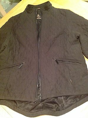 Fabulous Black Barbour Lightweight Jacket Size 12