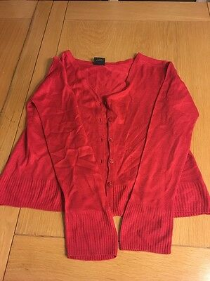 Red Cardigan Primary School Girls Uniform , 9-10 Years By Next