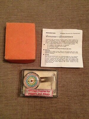 VINTAGE MECHANICAL Littleped PEDOMETER W GERMANY boxed w/Instructions