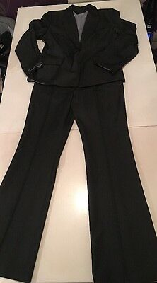 NL Collections Charcoal Woman's Suit Size 10 Trousers / 12 Jacket