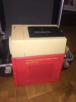 Vintage Pitney Bowes 6300 franking machine w/record book