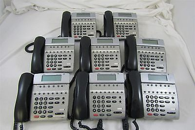 Lot of 8 NEC Dterm 80 Business Office Telephones DTH-16D-2 (BK) Untested