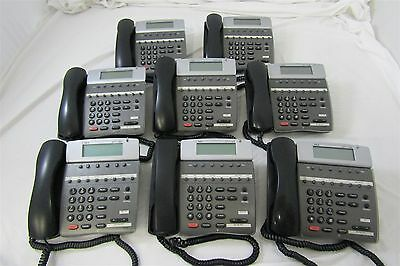 Lot of 8 NEC Dterm 80 DTH-8D-2 (BK) TEL Business Office Telephones Untested