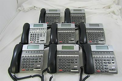 Lot of 8 NEC Dterm 80 DTH-8D-2 (BK) TEL LCD Business Office Telephones Untested