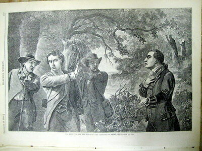 1860 illustrated newspaper BENEDICT ARNOLD TREASON Revolutionary War POSTER