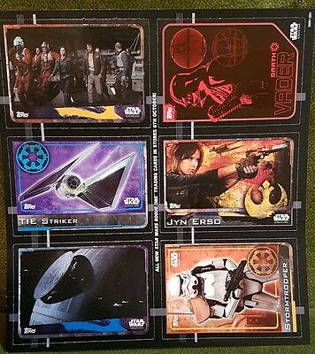 Topps Star Wars The Rogue One Trading Cards #1 #48 #51 #92 #129 #139