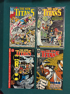 New Teen Titans (1984 2nd Series) New Titans #58,59,60,62  VF to NM