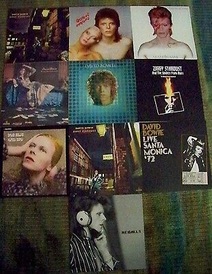 DAVID BOWIE set of 10 promo album cover poster flats  - from Five Years box set