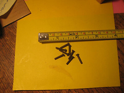 "8 Vintage NOS Solid Brass Clock/Radio/Gauge Screws Flat Head Slot 2/64 X 1/2"" L"