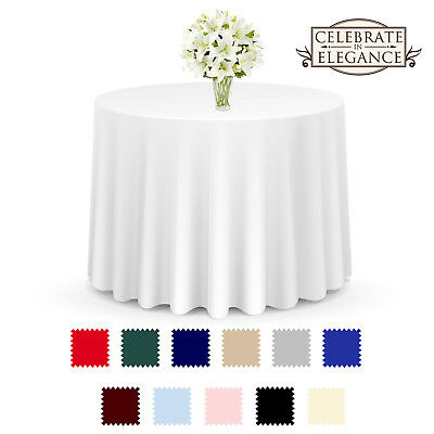 10 pcs Round Seamless Tablecloths - Wedding Party Linens