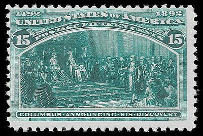 WCstamps: U.S. Scott #238 / $675 - 15c Columbian, NH OG, Fine