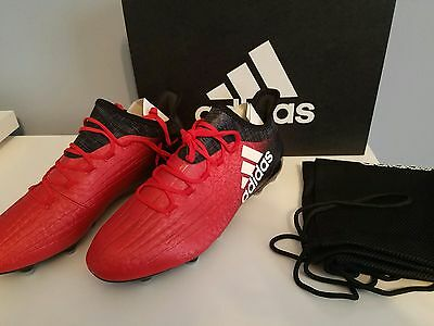 adidas X 16.1 FG Soccer Cleats (Red/Black) BB5618 various sizes