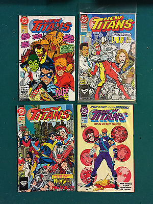 New Teen Titans (1984 2nd Series) New Titans #93,94,95,99 Nice but no grade