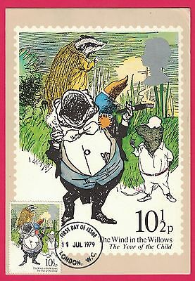 1979 Scott #868 The Wind In The Willows PHQ Card First Day Of Issue FDI