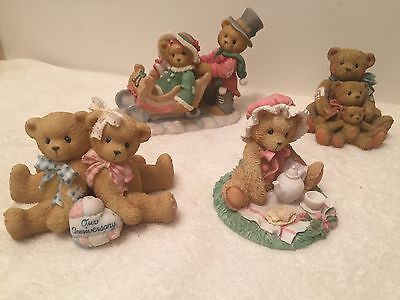 Lot Of 4 Collectible Enesco Cherished Teddies Decorative Figurines Shelf Sitters