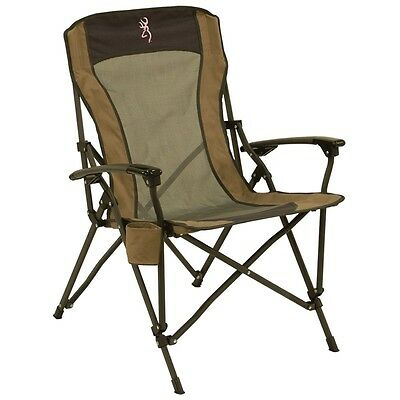 New! Browning Camping Fireside Chair Pink Buckmark Steel Frame 8517194