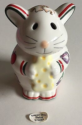 Ceramic Parmesan Cheese Shaker Italian Pizza Mouse Bella Casa by Ganz  5in Tall