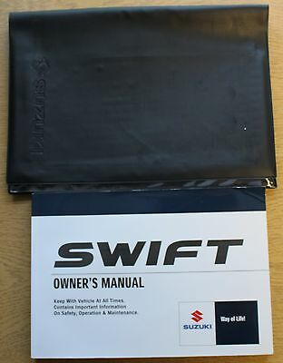 Suzuki Swift Owners Manual Handbook Wallet 2005-2010 Pack 11606